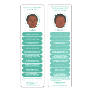 signs that your baby is well fed bookmark, breastfeeding, breast feeding, baby is hungry, Amy Spangler, Childbirth Graphics, 23342