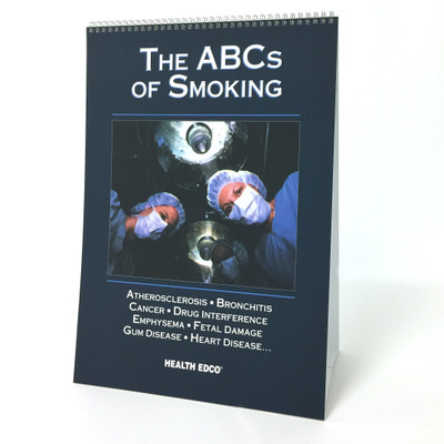 The ABCs of Smoking 6-panel spiral-bound flip chart English version cover, Health Edco, 43107