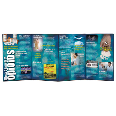 Effects and Hazards of Opioids folding display for health education, drug education materials, Health Edco, 78884