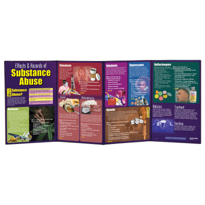 Effects & Hazards of Substance Abuse folding display for health education from Health Edco covering drugs of abuse, 79053