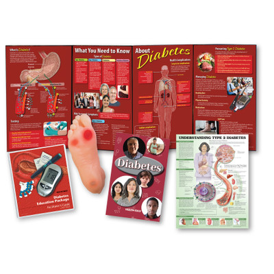 Diabetes Education Package from Health Edco with diabetes teaching tools, foot model and diabetes facilitator's guide, 79370