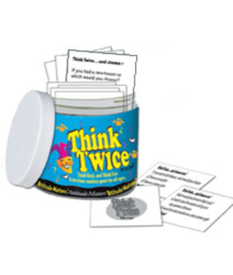Think Twice in a Jar, 101 discussion provoking cards present unusual dilemmas, Health Edco, 79856